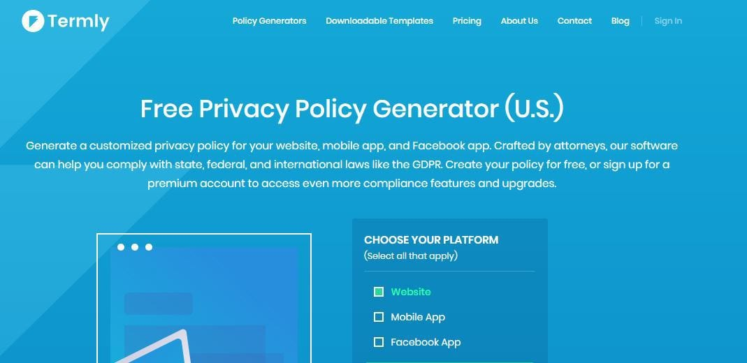 termly privacy policy generator