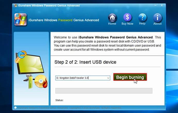 iSunshare Windows Password Genius software tutorials