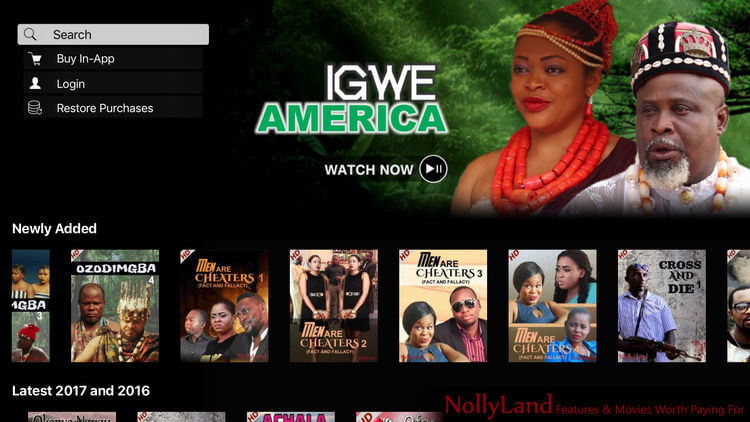 Nollyland app for latest Nollywood movies